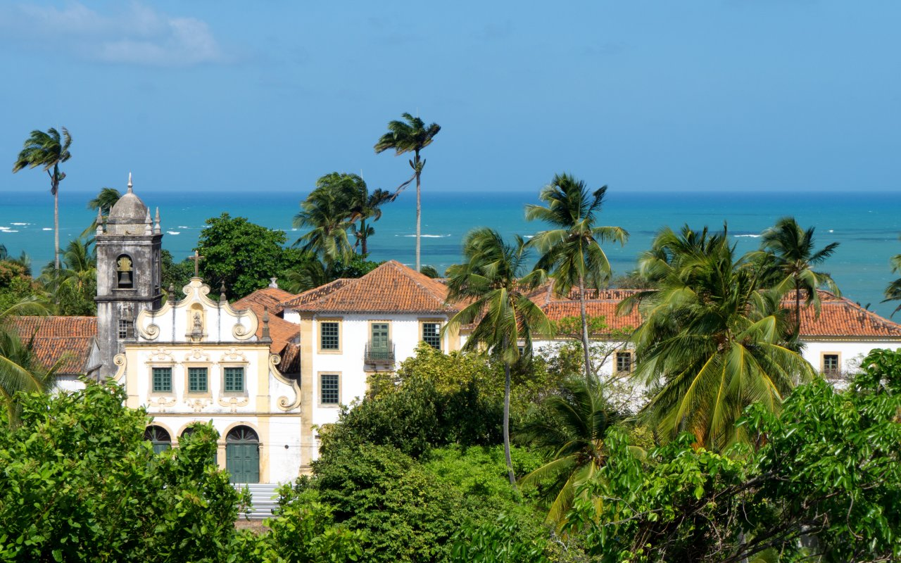 Eglise coloniale à Olinda dans le Pernambuco au Brésil