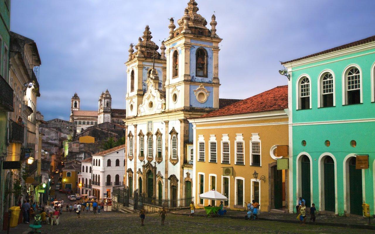 Quartier du Pelourinho à Salvador de Bahia au Brésil