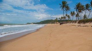La plage de Baia da Traição dans le Nordeste au Brésil