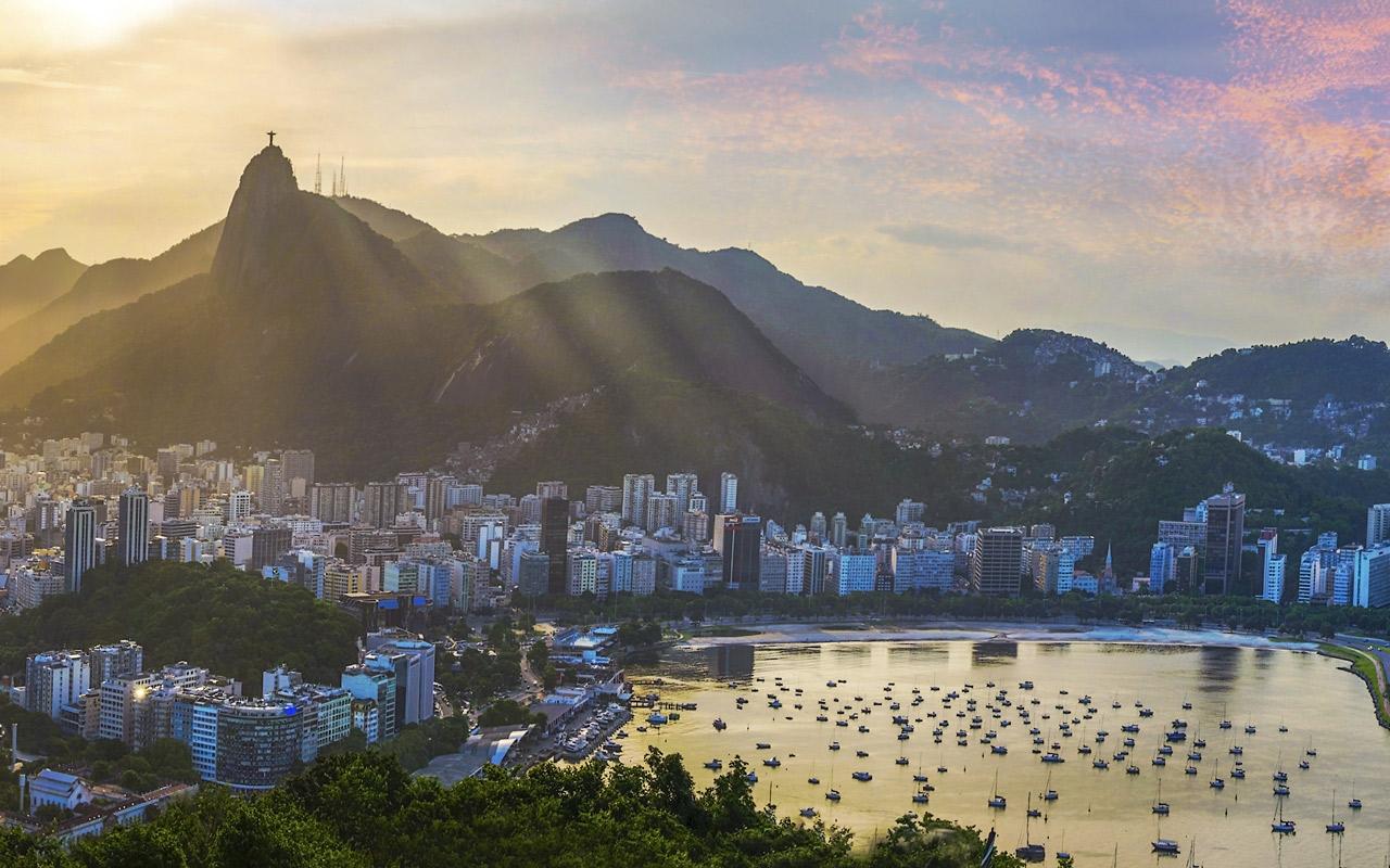 Vue sur la baie de Rio de Janeiro au Brésil
