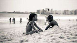 La plage de Copacabana à Rio de Janeiro au Brésil