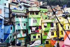 Favela Santa Marta à Rio de Janeiro au Brésil