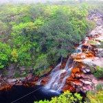Cascade Poco do Diablo à Lençois au Brésil