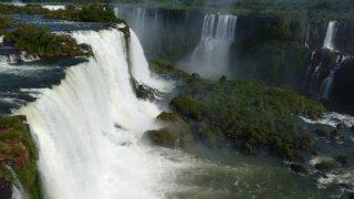 Les chutes d'Iguazu depuis le Brésil