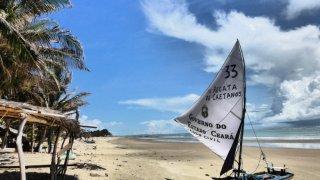 Plage de Icarai de amontada au Brésil