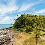 La côte au Brésil dans l'état de Bahia
