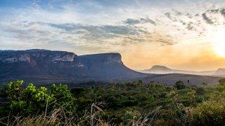 La Chapada Diamantina au coucher du soleil au Brésil