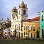Eglise Rosaiao dos Pretos dans le Pelourinho à Salvador de Bahia