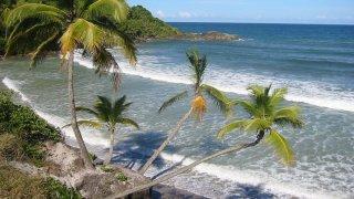 Vue sur la mer près d'Itacare au Brésil