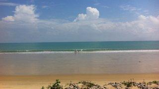 Vue sur la mer depuis Icarai au Brésil