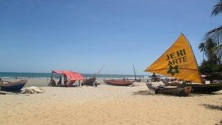 Sur la plage près de Jericoacoara au Brésil