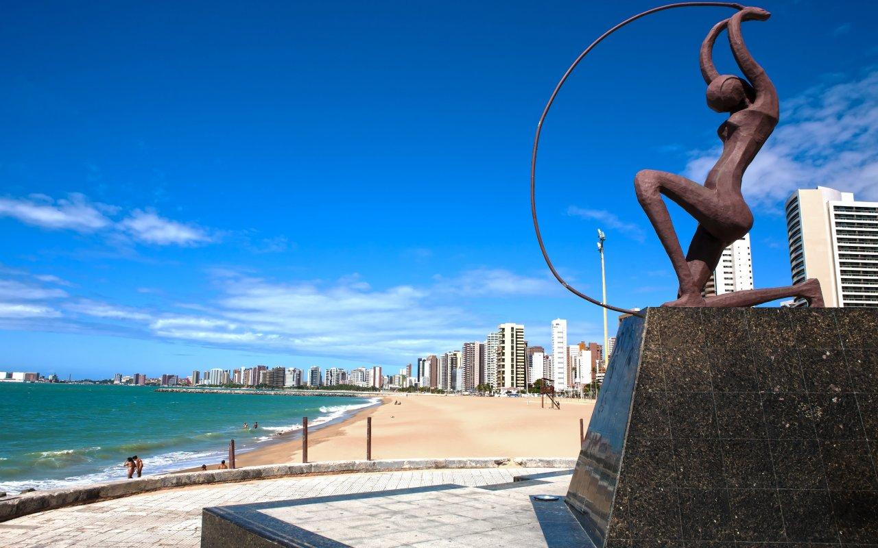 Plage de Fortaleza dans le Nordeste du Bresil