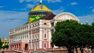 Le Théâtre Amazonas en Amazonie au Brésil