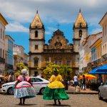 Quartier du Peourinho à Salvador au Brésil