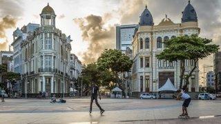 Dans les rues de Recife dans le Nordeste au Brésil