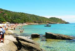 La plage de Rio Buzios au Brésil