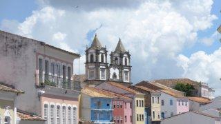 Le quartier du Pelourinho à Salvador de Bahia au Brésil