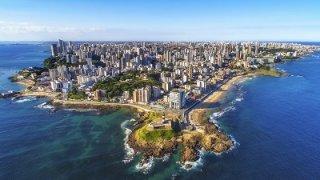 Vue aérienne de Salvador de Bahia au Brésil