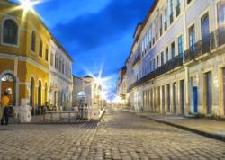 Les rues de la ville de Sao Luis au Brésil