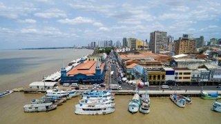 Vue aérienne de Belem au Brésil